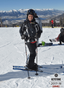 Nerissa Marbury skiing at Keystone | Month in Review - January 2018