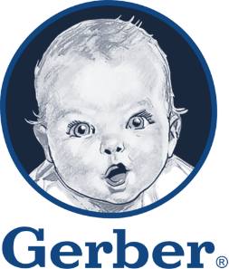 Image is of the Gerber logo. This company is a past or current client of One Epiphany.