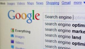 Screenshot of Google search engine.