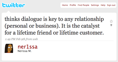 9 Feb 2009 Tweet - @ner1ssa