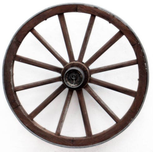 Wagon wheel and social media analogy