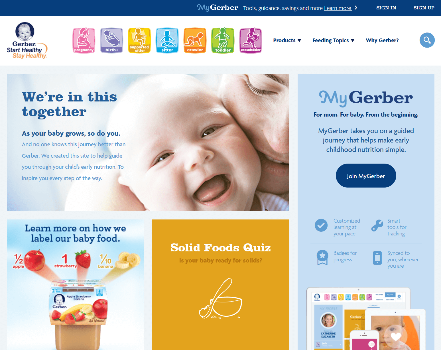 Image of the MyGerber.com website home page.
