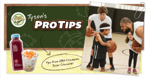 Image of the Tyson's ProTips microsite that was built for Hain Celestial.