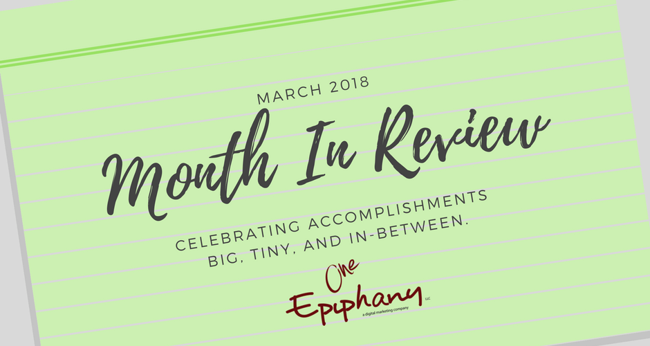 March 2018 Month in Review