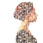 Silhouette of a women who represents the many users of Blockchain For Change
