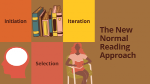 """Slide by Derby Chukwudi. Slide says """"Initiation, Selection, Iteration"""" on the left side. On the right side of the slide it says """"The New Normal Reading Approach""""."""